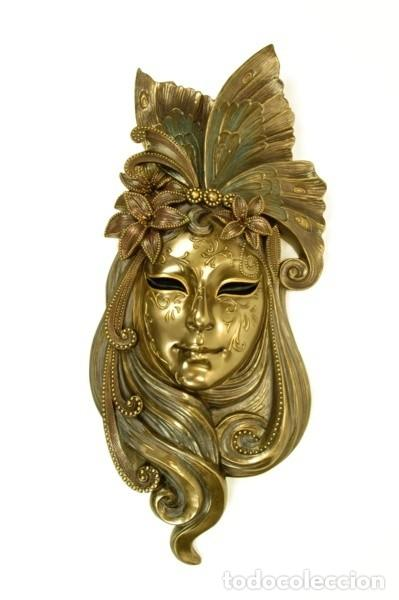 Arte: Máscara Veneciana. Lirio grande. 52x21x7cm - Foto 2 - 222385817