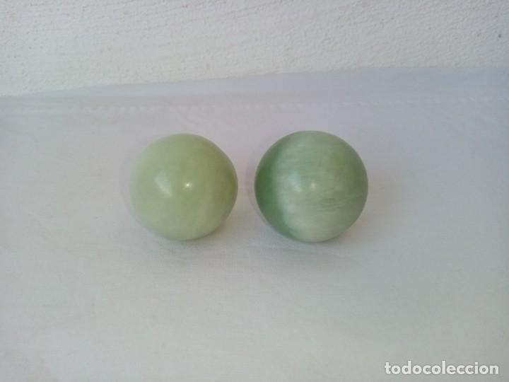 Arte: Bolas relajantes de jade.Con caja original. - Foto 7 - 223905933