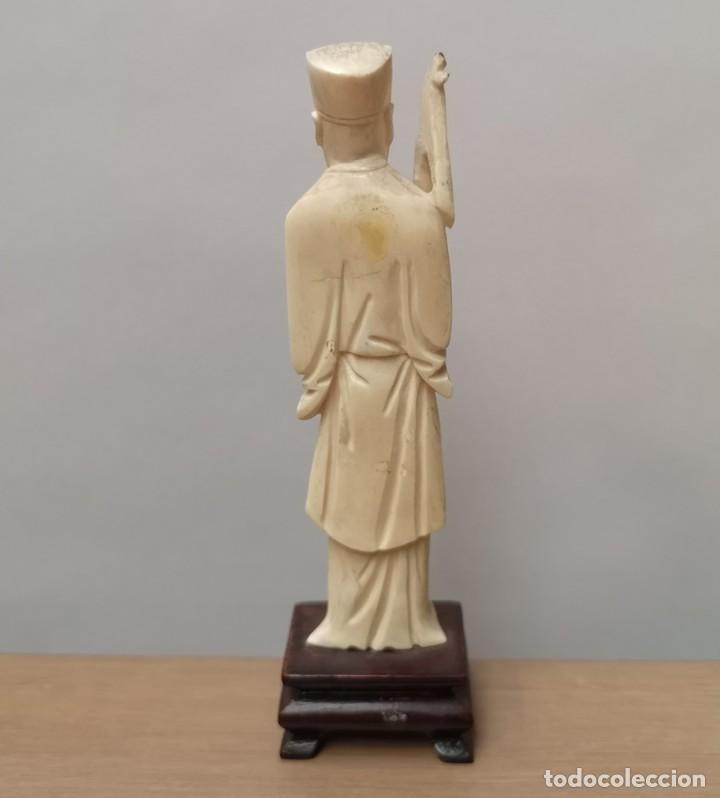 Arte: Figura Oriental en Hueso - Foto 3 - 224024017