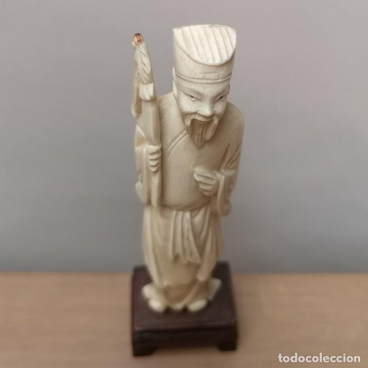 Arte: Figura Oriental en Hueso - Foto 5 - 224024017