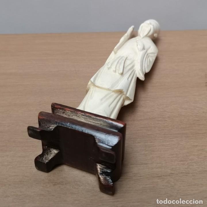 Arte: Figura Oriental en Hueso - Foto 6 - 224024017