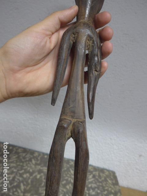 Arte: Antigua escultura figura de madera tallada africana, original, de tribu. - Foto 7 - 224044491