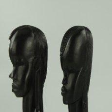 Art: PRECIOSAS FIGURAS HECHAS DE EBANO MUJERES – ARTE AFRICANO. Lote 224609363