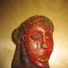 Art: MÁSCARA ÁFRICA AFRICANA RESINA O SIMILAR MINIATURA. Lote 224863682