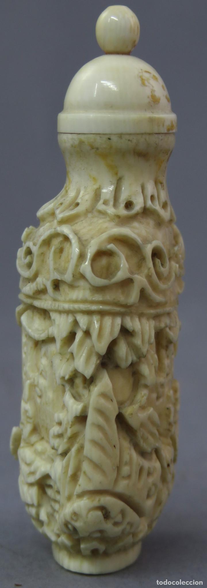 Arte: Perfumero chino tallado snuff bottle China siglo XIX - Foto 5 - 225310220