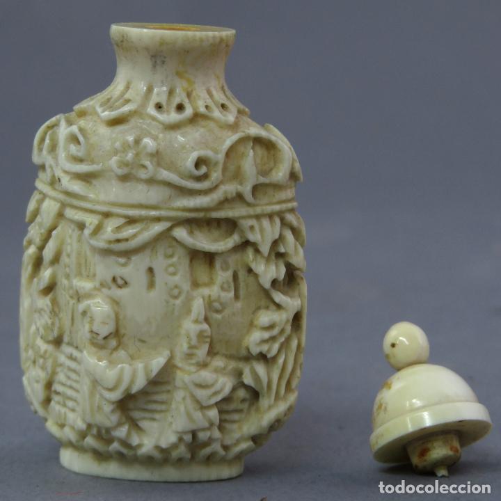 Arte: Perfumero chino tallado snuff bottle China siglo XIX - Foto 6 - 225310220
