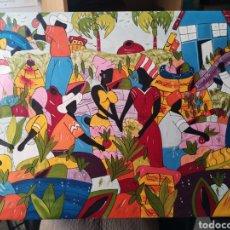 Arte: CUADRO ESTILO NAIF ARTISTA CALLEJERO CUBANO 90. Lote 225514745