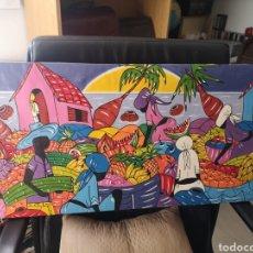 Arte: CUADRO ESTILO NAIF ARTISTA CALLEJERO CUBANO 90S. Lote 225515391