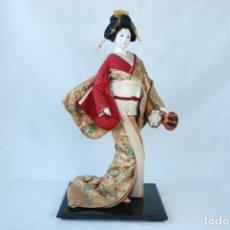 Arte: ENORME ESCULTURA DE UNA GEISHA TRADICIONAL JAPONESA - 57 CM DE ALTURA. Lote 226708864