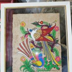 Arte: OLEO EN PAPEL RECICLADO.. OBRA ÉTNICA.. COLORIDO.. DIFÍCIL PINTAR EN ESA CLASE DE PAPEL... Lote 226749455