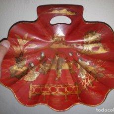 Arte: ESPECTACULAR BANDEJA EN PAPIER MACHE, CHINA S.XIX.. Lote 227970315