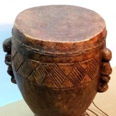Arte: ARTE ETNICO AFRICANO. TAMBOR LUBA. CONGO. ÁFRICA.. Lote 227982400