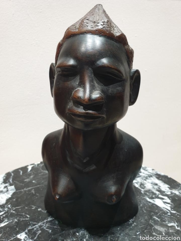 ESCULTURA TALLA DE MADERA AFRICANA ARTE ÉTNICO (Arte - Étnico - África)
