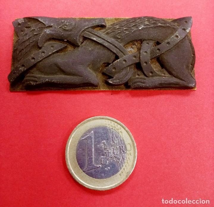 Arte: Raro Adorno Dragón Antiguo tipo como Medieval. - Foto 2 - 228388265