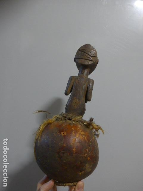 Arte: Antigua escultura fetiche figura de madera tallada africana, original, de tribu luba del congo - Foto 8 - 228479245