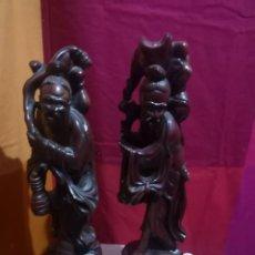 Arte: 2 GRANDES FIGURAS ANTIGUAS ORIENTALES DE ESTUCO. Lote 228819615