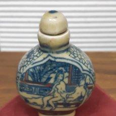 Arte: BOTELLA ERÓTICA DE RAPÉ EN CERÁMICA CHINA - SNUFF BOTTLE. Lote 229226845