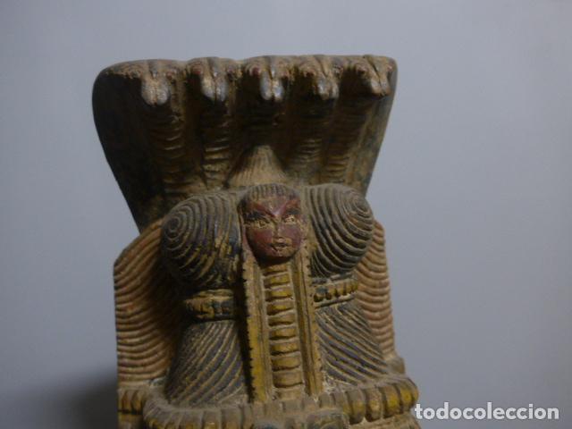 Arte: Antigua mascara india de madera tallada, original, de bombay, asiatica. - Foto 4 - 229259650