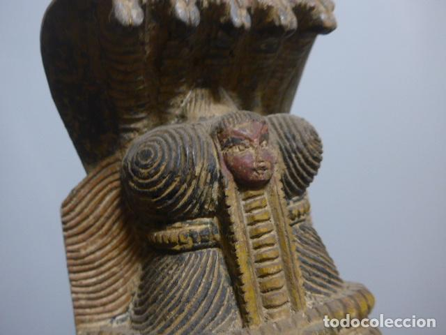 Arte: Antigua mascara india de madera tallada, original, de bombay, asiatica. - Foto 11 - 229259650