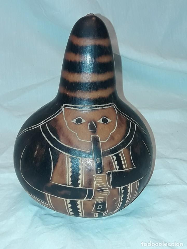 Arte: Bella gran calabaza tallada Perú - Foto 2 - 229412110
