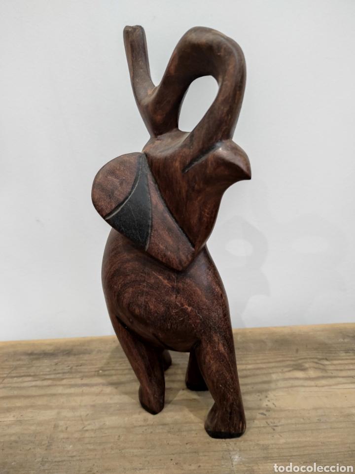 Arte: Talla africana elefante - Foto 3 - 230875665