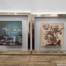 Arte: PAREJA DE PINTURAS BATIK, PROCEDENTES GALERIA KOONG. INDONESIA. 24X25CM. Lote 231655280