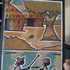Arte: CUADRO DE ARENA AFRICANO. Lote 231713735