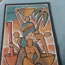 Arte: CUADRO DE ARENA AFRICANO. Lote 231714020