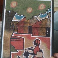Arte: CUADRO DE ARENA AFRICANO. Lote 231714765