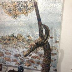 Arte: MASCARA AFRICANA TOCADO ANTÍLOPE ADONÉ TRIBU KURUMBA DE BURKINA FASO, ARTE TRIBAL, DE EXPOSICIÓN. Lote 232181690