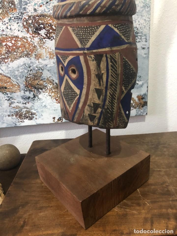 Arte: Mascara africana Tocado Antílope Adoné tribu Kurumba de Burkina Faso, arte tribal, de exposición - Foto 5 - 232181690