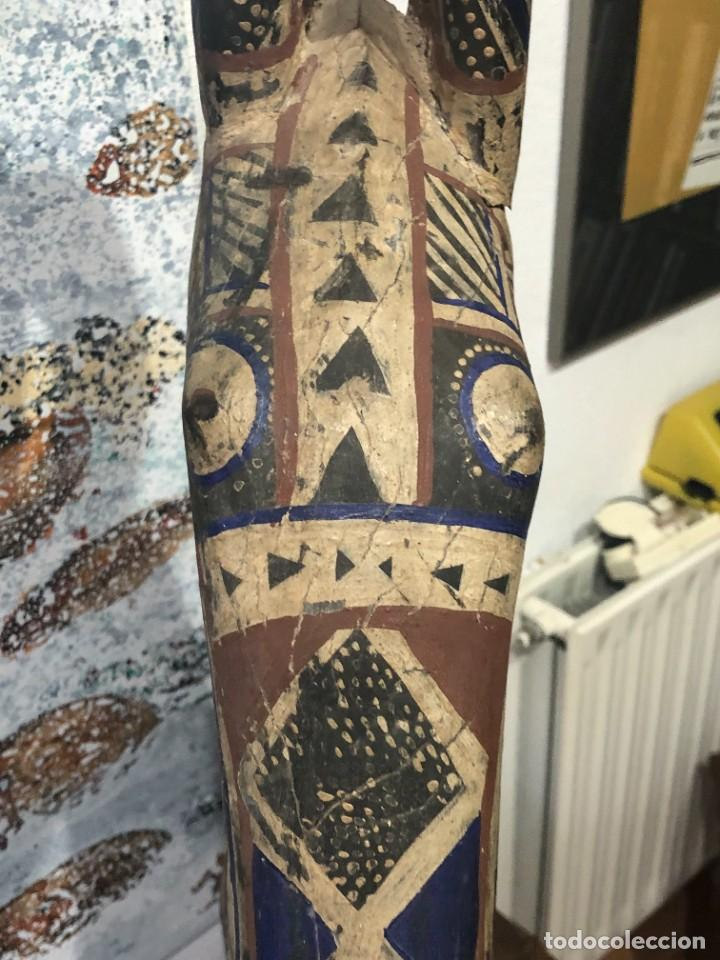 Arte: Mascara africana Tocado Antílope Adoné tribu Kurumba de Burkina Faso, arte tribal, de exposición - Foto 22 - 232181690