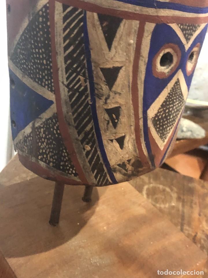 Arte: Mascara africana Tocado Antílope Adoné tribu Kurumba de Burkina Faso, arte tribal, de exposición - Foto 26 - 232181690
