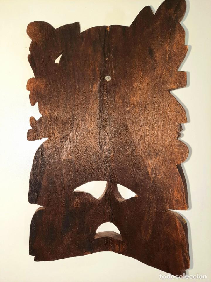 Arte: Mascara Mexicana Cultura Maya tallada y pintada a mano - Foto 2 - 232243760