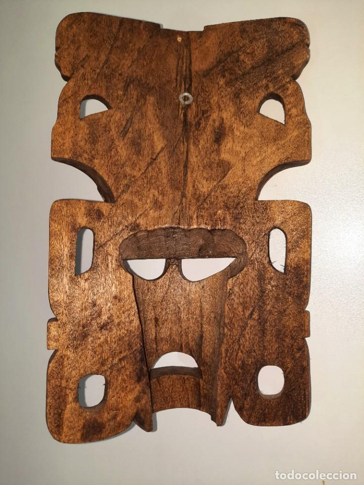 Arte: Mascara Mexicana Cultura Maya tallada y pintada a mano - Foto 2 - 232243805