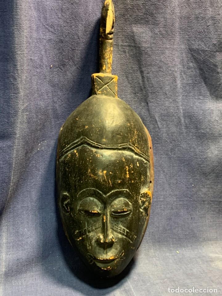 MASCARA AFRICANA GURO COSTA MARFIL MADERA TALLADA MITAD S XX 46,5X17CMS (Arte - Étnico - África)