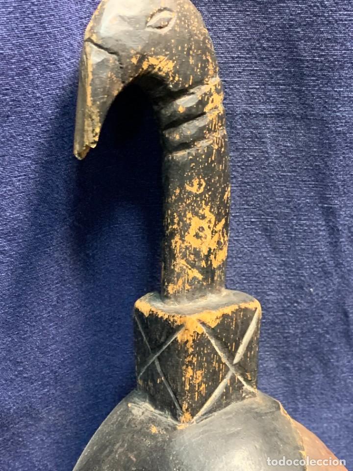 Arte: MASCARA AFRICANA GURO COSTA MARFIL MADERA TALLADA MITAD S XX 46,5X17CMS - Foto 6 - 232247480