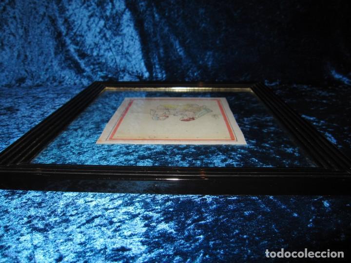 Arte: Cuadro pintura miniatura oriental India hindú seda doble cristal - Foto 18 - 232625322