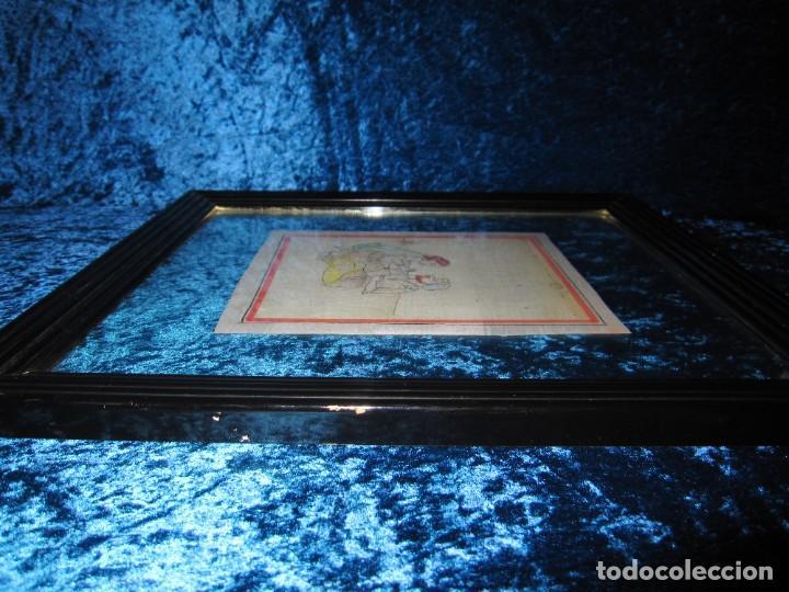 Arte: Cuadro pintura miniatura oriental India hindú seda doble cristal - Foto 38 - 232625322