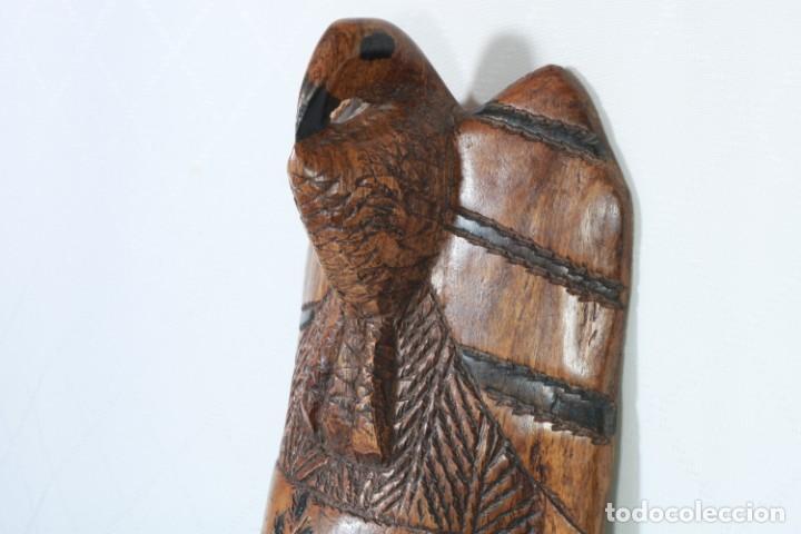 Arte: Antigua máscara africana de madera tallada a mano - 42 cm - Foto 5 - 233167230