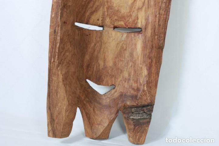 Arte: Antigua máscara africana de madera tallada a mano - 42 cm - Foto 8 - 233167230