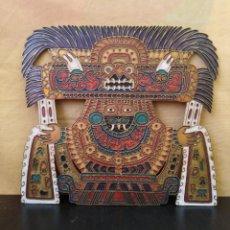 Arte: PLACA DE METAL TIPO ESMALTE - DECORACIÓN MEJICANA - AÑOS 80. Lote 233170080