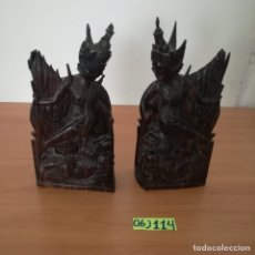 Arte: TALLAS SUJETA LIBROS DE MADERA TAILANDESA. Lote 233253575