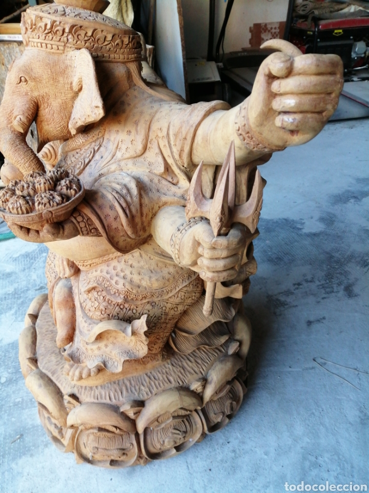 Arte: Figura de elefante dios hindú Ganesha - 62cm. - Foto 5 - 234449520