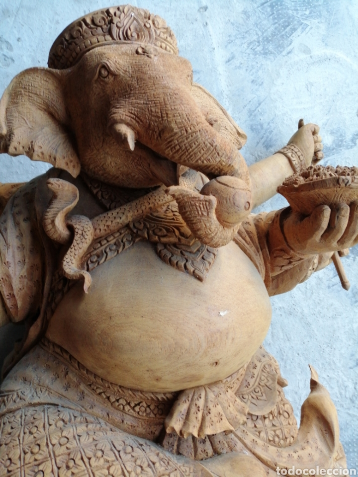 Arte: Figura de elefante dios hindú Ganesha - 62cm. - Foto 15 - 234449520