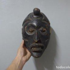 Arte: ANTIGUA MASCARA AFRICANA DE MADERA TALLADA, ORIGINAL, DE TRIBU DE AFRICA.. Lote 235187825