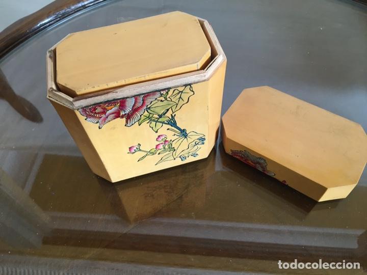 Arte: 3 cajas chinas de bambú - Foto 3 - 235360810