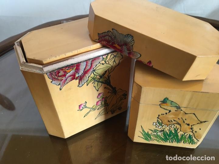 Arte: 3 cajas chinas de bambú - Foto 4 - 235360810