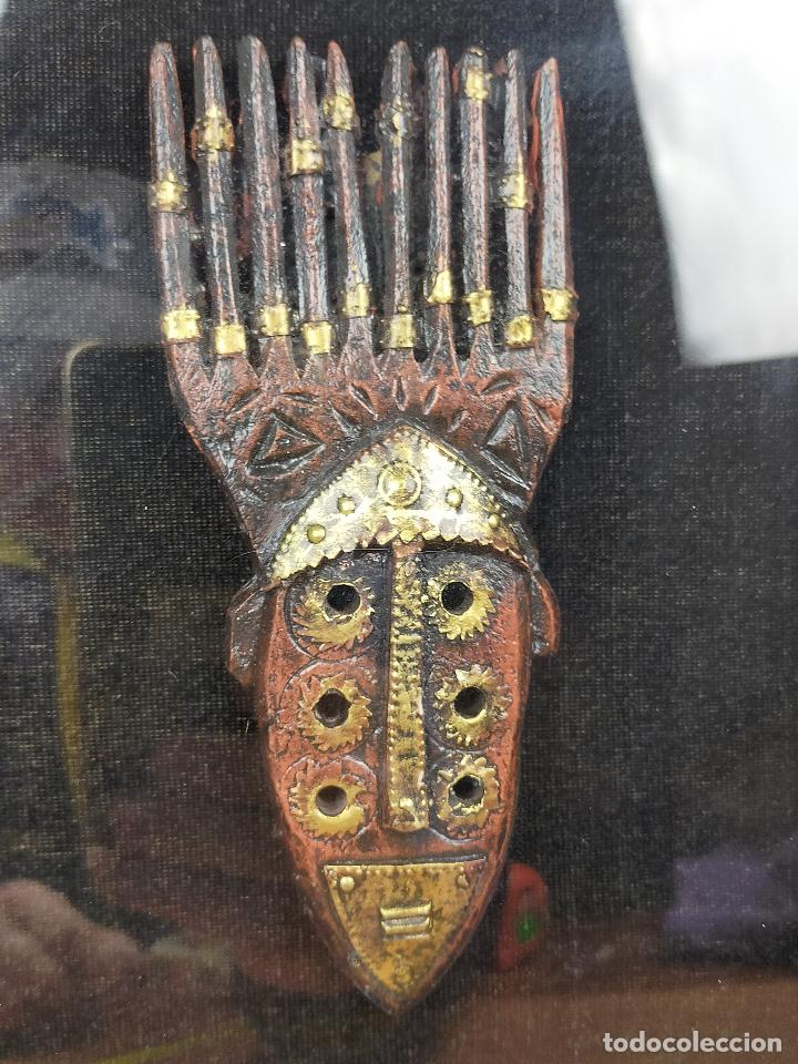 Arte: CUADRO con reliquia africana o similar - Foto 6 - 235941100