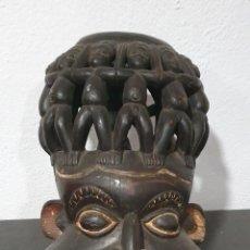 Arte: MASCARA BAMILEKE - CAMERÚN - 10 PERSONAJES ENCIMA DE LA CABEZA.. Lote 236130680